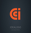 c and i initial logo and i initial monogram vector image