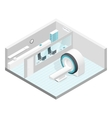 Cabinet MRI isometric room set vector image