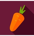 Carrot flat icon with long shadow vector image vector image