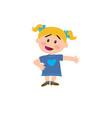 cartoon character girl showing vector image vector image