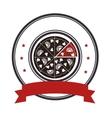 delicious pizza italian icon vector image vector image