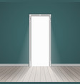 empty room through the open door vector image