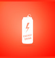energy drink icon isolated on orange background vector image vector image