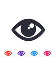 eye icon symbol vector image vector image