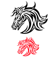 Face horse tribal vector image vector image