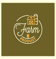 farm product logo round linear logo farm vector image vector image