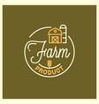 farm product logo round linear logo vector image