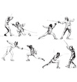 fencing vector image vector image