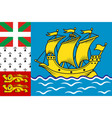 flag of saint pierre and miquelon france vector image vector image