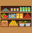 flat design restaurant food shop facade vector image vector image