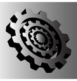 four gray steel cogwheels vector image