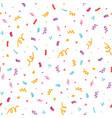 fun confetti seamless repeat pattern vector image vector image
