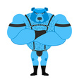 Gay bear symbol of sexual community Big strong vector image