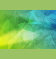 green blue abstract low poly background vector image vector image