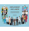 group of people with different occupation vector image vector image