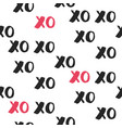 hand drawn seamless pattern with xoxo vector image vector image