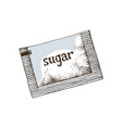 hand drawn sugar sachet vector image