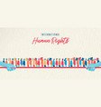 human rights awareness month united people vector image vector image