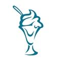 Ice-cream dessert in a glass vector image