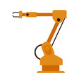industrial robotic arm for auto production vector image vector image