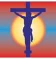 Jesus on a cross vector image