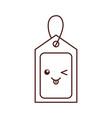 kawaii price tag coupon buy blank market design vector image vector image
