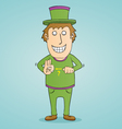 Magic thumb trick vector image vector image