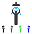 man under shower flat icon vector image vector image