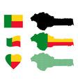 map of Benin vector image