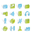 media and household equipment icons vector image vector image