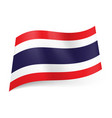 National flag of thailand wide blue stripe