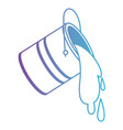 paint bucket spilling in degraded purple to blue vector image vector image