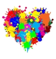 Paint splatter heart vector image