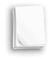 Paper sheet icons vector image