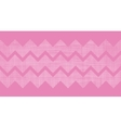 Pink fabric textured chevron stripes horizontal vector image