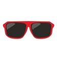 Red sunglasses isolated on white background vector image vector image