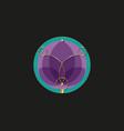 sacred lotus purple flower life sacred geometry vector image