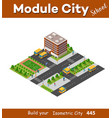 school isometric building study education vector image
