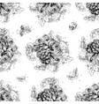 seamless pattern from black and white drawing vector image vector image