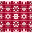 Seamless pattern of heart view snowflakes Winter vector image vector image