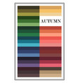 seasonal color analysis palette for autumn type vector image vector image