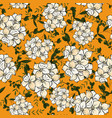set seamless floral ornament in flower vector image
