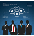 Silhouettes of Businessman four options concept vector image vector image
