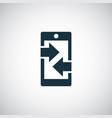 smartphone arrow icon trendy simple concept symbol vector image vector image