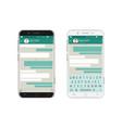 smartphone bubbles app vector image