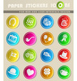 st patrick day icon set vector image vector image