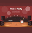 stage and musics party banner vector image