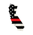 state california firefighter support flag vector image vector image