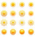 sun logo template set vector image vector image