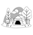 tent and camping design vector image